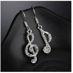 5/$24 Delicate Musical Note French Hook Earrings
